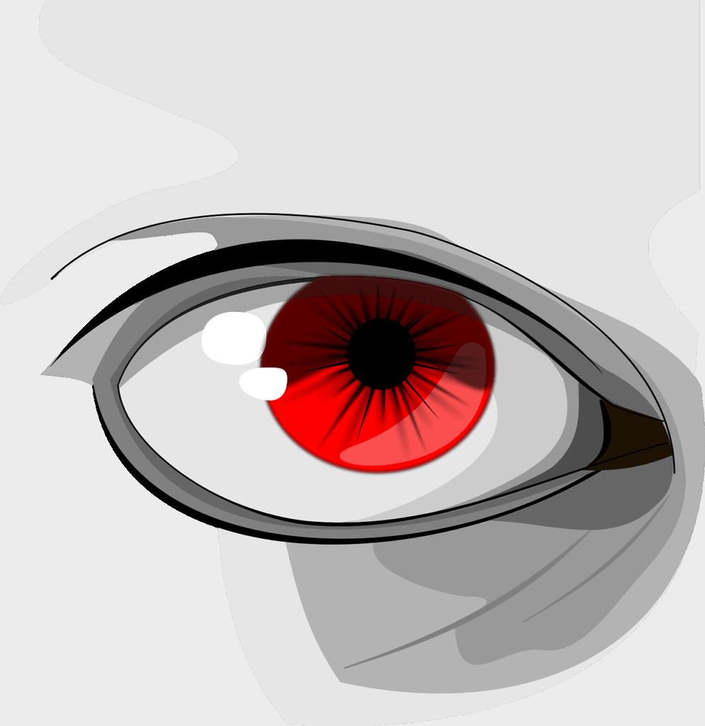 העין אדומה